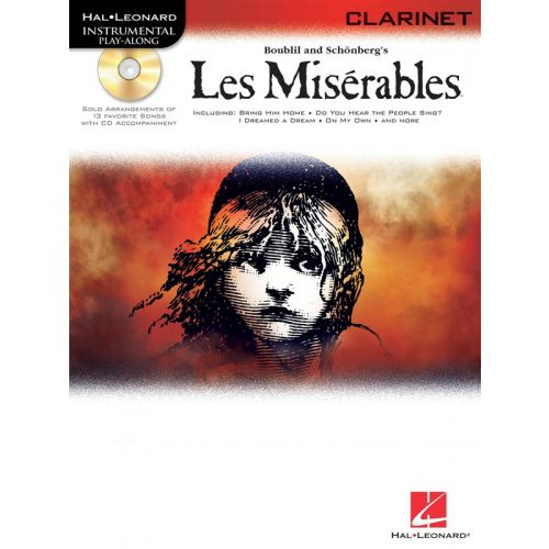 HAL LEONARD LES MISERABLES + CD - CLARINET