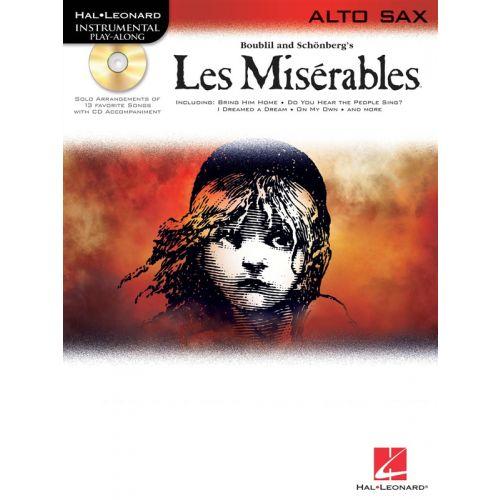 HAL LEONARD INSTRUMENTAL PLAY-ALONG LES MISERABLES + CD - ALTO SAXOPHONE