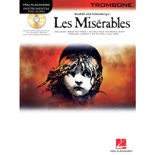 HAL LEONARD INSTRUMENTAL PLAY-ALONG - LES MISERABLES + CD - TROMBONE