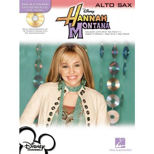 HAL LEONARD INSTRUMENTAL PLAY-ALONG HANNAH MONTANA + CD - ALTO SAXOPHONE