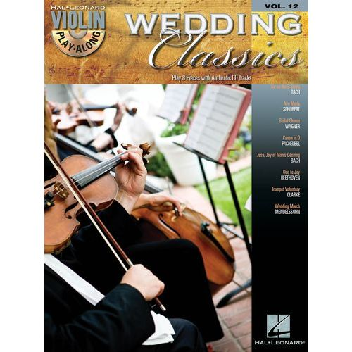 HAL LEONARD VIOLIN PLAY-ALONG VOL.12 WEDDING CLASSICS