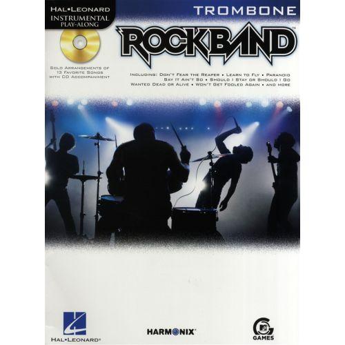 HAL LEONARD INSTRUMENTAL PLAY-ALONG ROCK BAND + CD - TROMBONE