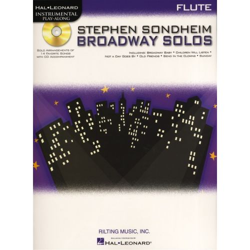 HAL LEONARD INSTRUMENTAL PLAY ALONG - SONDHEIM STEPHEN BROADWAY SOLOS - FLUTE