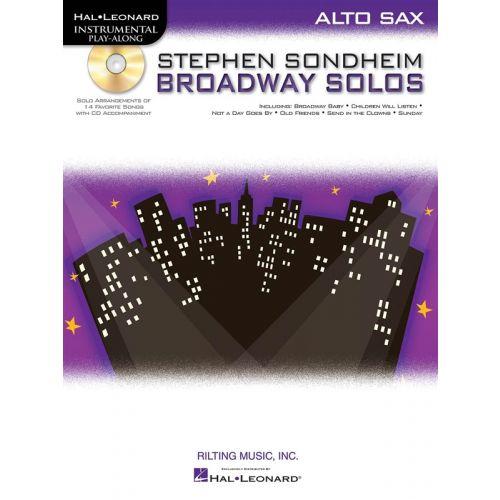 HAL LEONARD INSTRUMENTAL PLAY ALONG - SONDHEIM STEPHEN BROADWAY SOLOS + CD - ALTO SAXOPHONE