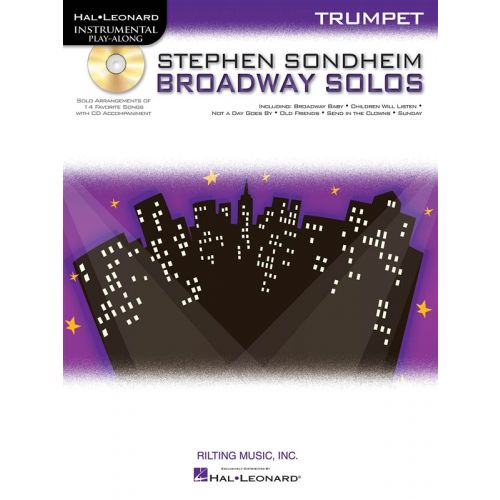HAL LEONARD INSTRUMENTAL PLAY ALONG - SONDHEIM STEPHEN - BROADWAY SOLOS - TRUMPET