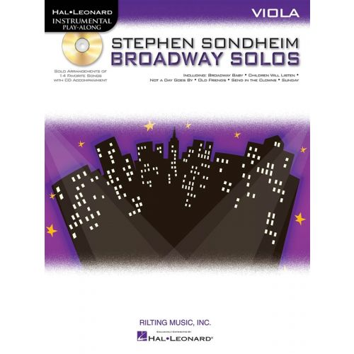 HAL LEONARD INSTRUMENTAL PLAY ALONG - SONDHEIM STEPHEN - BROADWAY SOLOS + CD - VIOLA