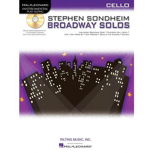 HAL LEONARD INSTRUMENTAL PLAY ALONG - SONDHEIM STEPHEN BROADWAY SOLOS + CD - CELLO