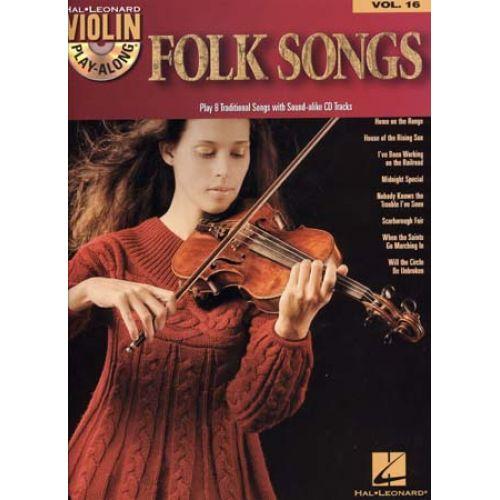 HAL LEONARD VIOLIN PLAY ALONG VOL.16 + CD - FOLK SONGS - VIOLIN