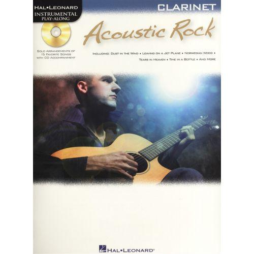 HAL LEONARD INSTRUMENTAL PLAY ALONG - ACOUSTIC ROCK + CD - CLARINET
