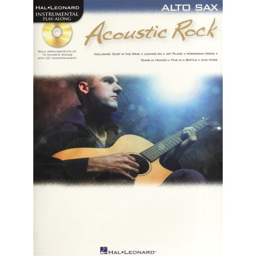 HAL LEONARD INSTRUMENTAL PLAYALONG ACOUSTIC ROCK + CD - ALTO SAXOPHONE