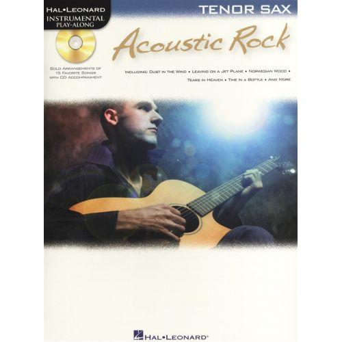 HAL LEONARD INSTRUMENTAL PLAYALONG ACOUSTIC ROCK TENOR SAX + CD - TENOR SAXOPHONE