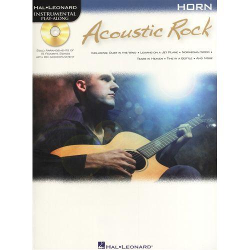 HAL LEONARD INSTRUMENTAL PLAY ALONG - ACOUSTIC ROCK + CD - HORN