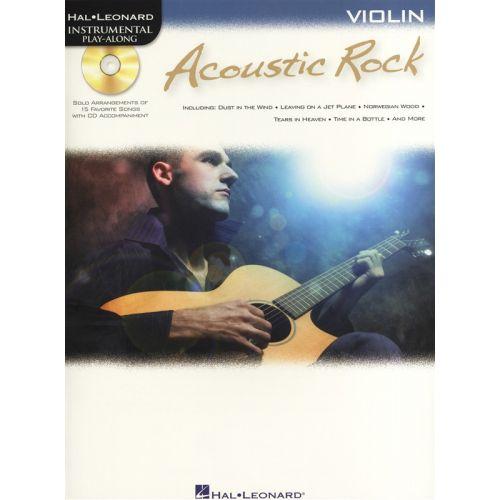 HAL LEONARD INSTRUMENTAL PLAY ALONG - ACOUSTIC ROCK + CD - VIOLIN
