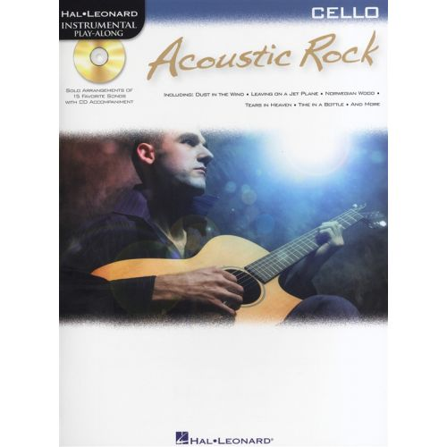 HAL LEONARD INSTRUMENTAL PLAY ALONG - ACOUSTIC ROCK + CD - CELLO