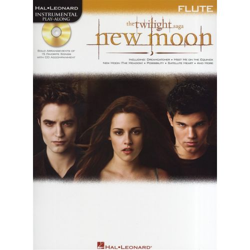 HAL LEONARD INSTRUMENTAL PLAY-ALONG NEW MOON SOUNDTRACK + CD - FLUTE