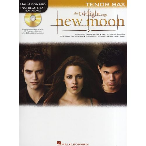 HAL LEONARD INSTRUMENTAL PLAY-ALONG NEW MOON SOUNDTRACK + CD - TENOR SAXOPHONE