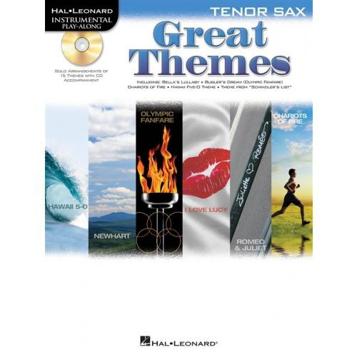 HAL LEONARD INSTRUMENTAL PLAY ALONG - GREAT THEMES + CD - TENOR SAXOPHONE