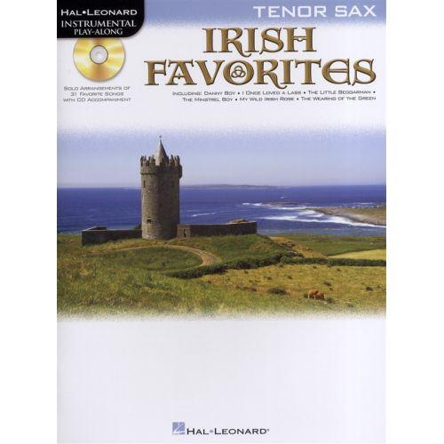 HAL LEONARD INSTRUMENTAL PLAY-ALONG IRISH FAVORITES TENOR SAX + CD - TENOR SAXOPHONE