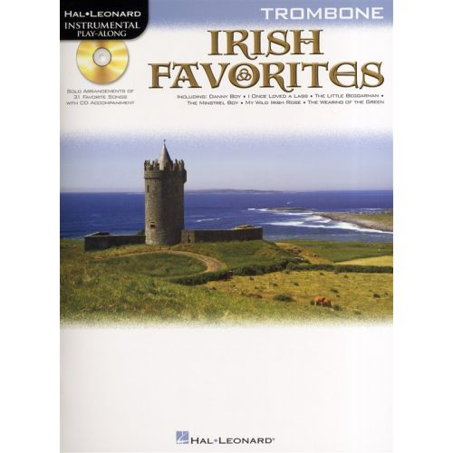 HAL LEONARD INSTRUMENTAL PLAY-ALONG IRISH FAVORITES + CD - TROMBONE