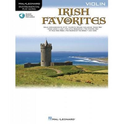 HAL LEONARD INSTRUMENTAL PLAY-ALONG IRISH FAVORITES VIOLIN + MP3 - VIOLIN