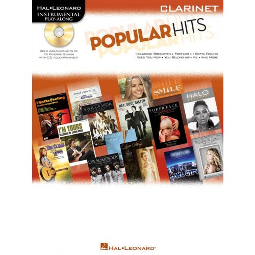 HAL LEONARD INSTRUMENTAL PLAY ALONG - POPULAR HITS + CD - CLARINET