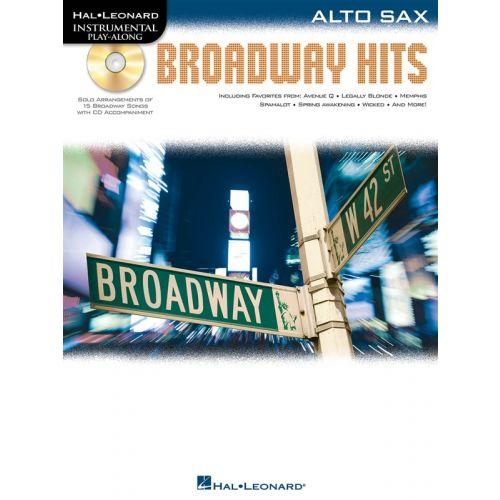 HAL LEONARD INSTRUMENTAL PLAY ALONG - BROADWAY HITS + CD - ALTO SAXOPHONE