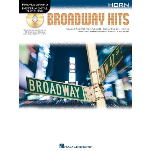 HAL LEONARD INSTRUMENTAL PLAY ALONG - BROADWAY HITS + CD - HORN