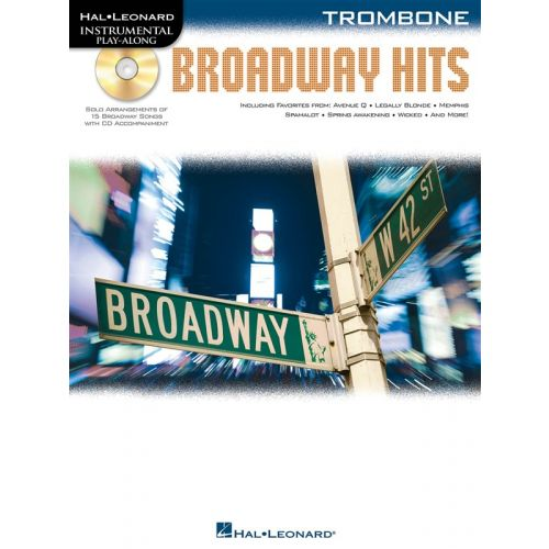HAL LEONARD INSTRUMENTAL PLAY ALONG - BROADWAY HITS + CD - TROMBONE
