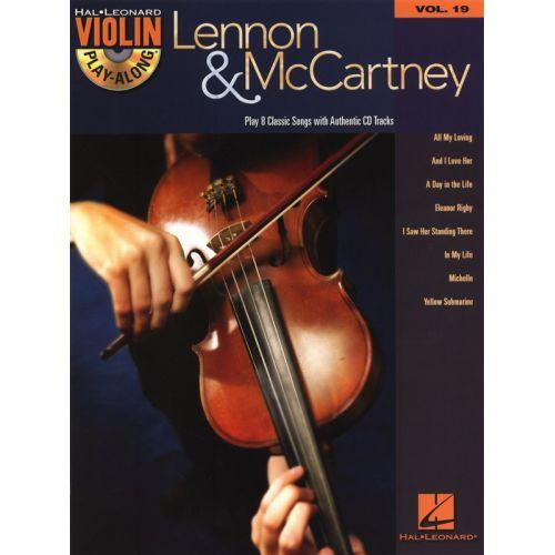 HAL LEONARD VIOLIN PLAY ALONG VOLUME 19 - LENNON AND MCCARTNEY + CD - VIOLIN