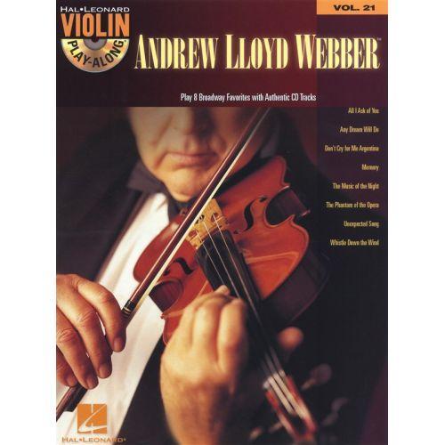HAL LEONARD VIOLIN PLAY ALONG VOLUME 21 - LLOYD WEBBER ANDREW + CD - VIOLIN