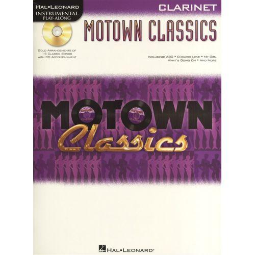 HAL LEONARD INSTRUMENTAL PLAY ALONG - MOTOWN CLASSICS + CD - CLARINET