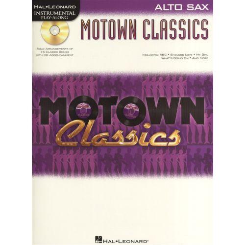 HAL LEONARD INSTRUMENTAL PLAY ALONG - MOTOWN CLASSICS + CD - ALTO SAXOPHONE