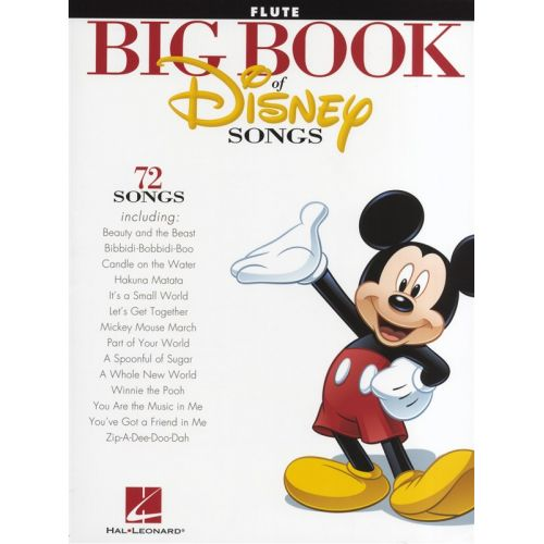 HAL LEONARD THE BIG BOOK OF DISNEY SONGS INSTRUMENTAL FOLIO - FLUTE