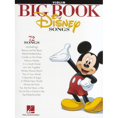 HAL LEONARD THE BIG BOOK OF DISNEY SONGS INSTRUMENTAL FOLIO - VIOLIN