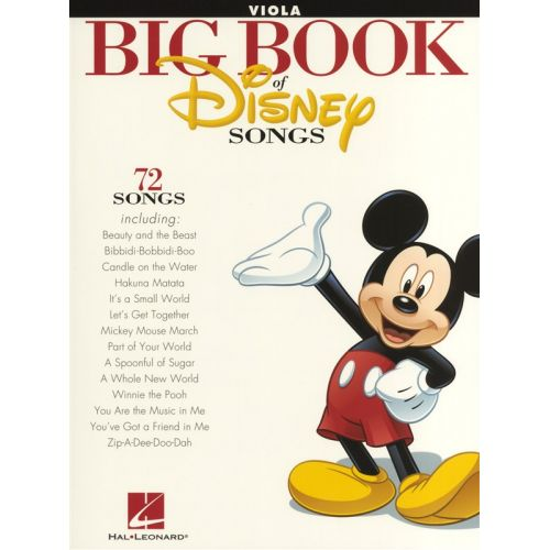 HAL LEONARD THE BIG BOOK OF DISNEY SONGS INSTRUMENTAL FOLIO VIOLA - VIOLA