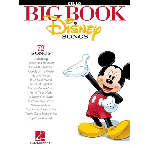 HAL LEONARD THE BIG BOOK OF DISNEY SONGS INSTRUMENTAL FOLIO CELLO - CELLO