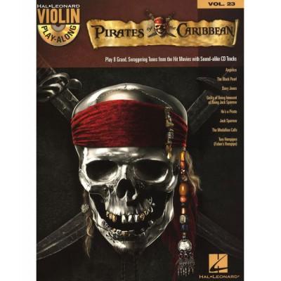 HAL LEONARD VIOLIN PLAY ALONG VOLUME 23 PIRATES OF THE CARIBBEAN + MP3 - VIOLIN