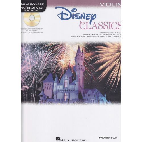 HAL LEONARD DISNEY CLASSICS FOR VIOLIN + CD