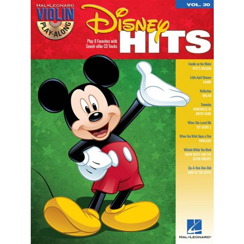 HAL LEONARD VIOLIN PLAY ALONG VOLUME 30 DISNEY HITS + CD - VIOLIN
