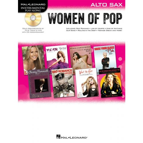 HAL LEONARD INSTRUMENTAL PLAY-ALONG WOMEN OF POP + CD - ALTO SAXOPHONE