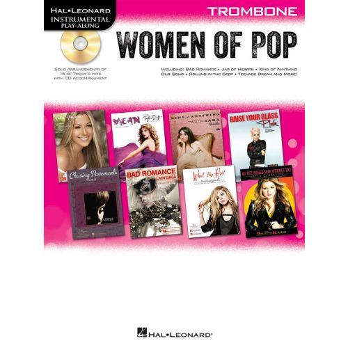 HAL LEONARD INSTRUMENTAL PLAY-ALONG WOMEN OF POP + CD - TROMBONE