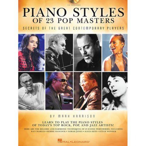HAL LEONARD HARRISON MARK PIANO STYLES OF 23 POP MASTERS + CD - PIANO SOLO