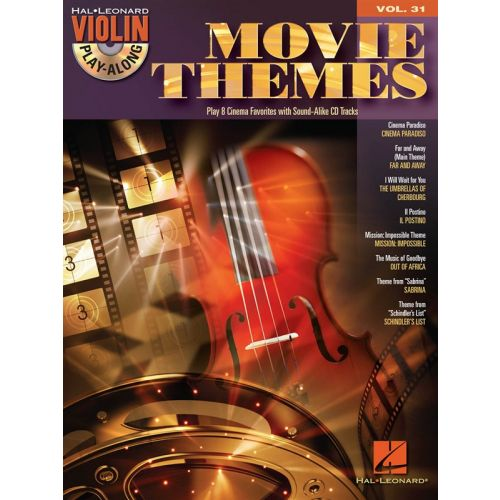 HAL LEONARD VIOLIN PLAY ALONG VOLUME 31 MOVIE THEMES + CD - VIOLIN
