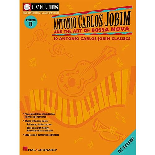 HAL LEONARD JAZZ PLAY ALONG :ANTONIO CARLOS JOBIM VOL 8 POUR VENTS