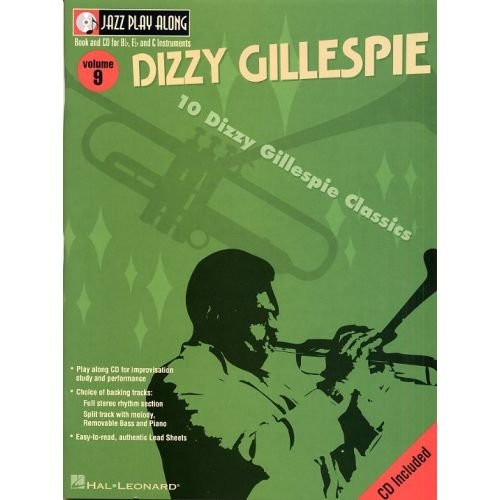 HAL LEONARD JAZZ PLAY-ALONG VOL.09 - DIZZY GILLESPIE + CD