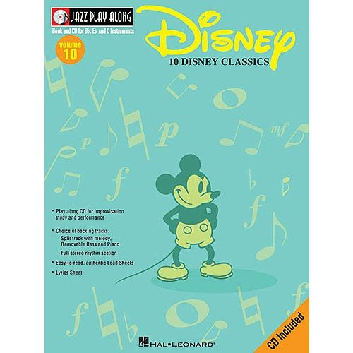 HAL LEONARD JAZZ PLAY ALONG VOL.10 - DISNEY + CD