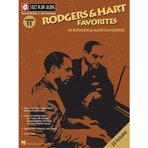 HAL LEONARD JAZZ PLAY ALONG VOL.11 RODGERS & HART FAVORITES BB, EB, C INST. CD