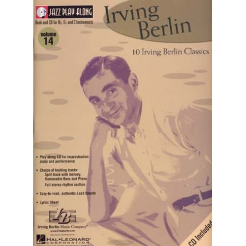 HAL LEONARD JAZZ PLAY ALONG VOL.14 IRVING BERLIN BB, EB, C INST. CD