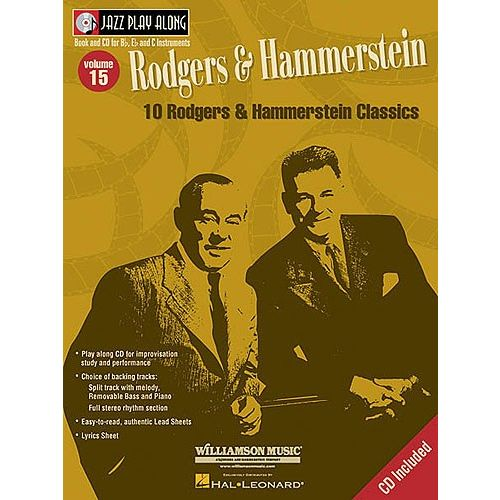 HAL LEONARD JAZZ PLAY ALONG VOL.15 RODGERS & HAMMERSTEIN BB, EB, C INST. CD