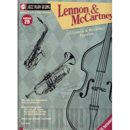 HAL LEONARD LENNON JOHN/MC CARTNEY PAUL - JAZZ PLAY ALONG VOL.29 + CD - Bb, Eb, C INSTRUMENTS